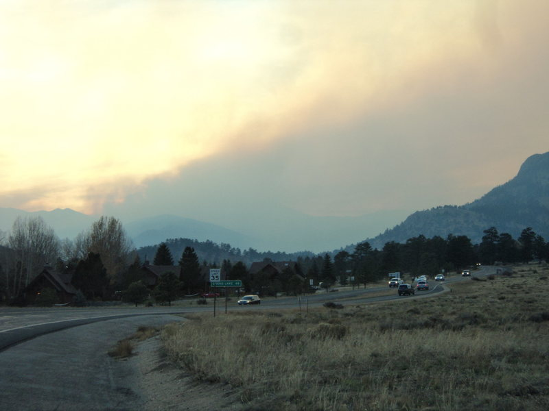 From the Beaver Meadows entrance.