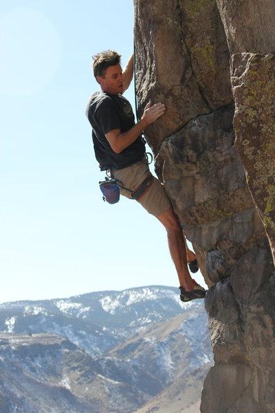 Rock Climbing Photo: Chris at Table