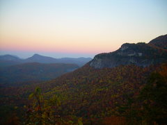 Rock Climbing Photo: Hwy. 64 Whitesides Overlook in October
