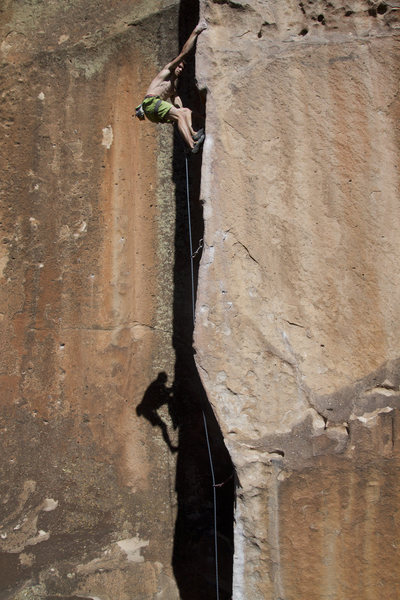 Rock Climbing Photo: On the arete.