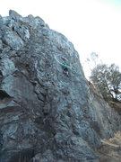 Rock Climbing Photo: Max TR'ing Community Chest at Auburn.  Thanks ASCA...