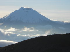 Rock Climbing Photo: Cotopaxi seen from Iliniza Norte