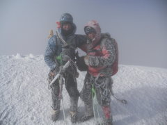 Rock Climbing Photo: Summit of Cotopaxi in nasty weather