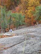 Rock Climbing Photo: Joshua follows Hotter Than Hell.