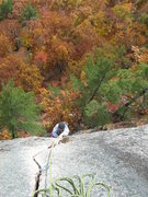 Rock Climbing Photo: Joshua Corbett follows Inferno's crack pitch.