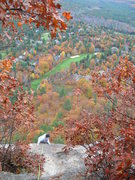 Rock Climbing Photo: Topping out on Inferno on a perfect late autumn da...