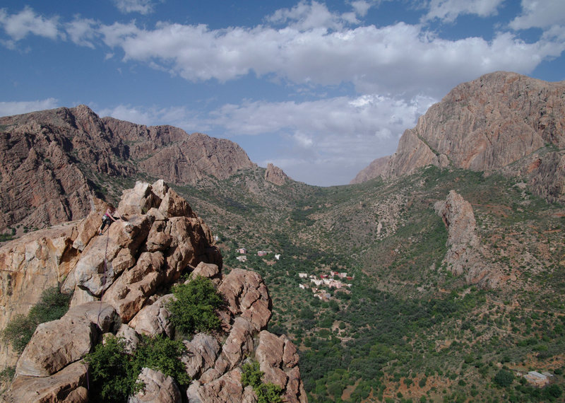 Rock Climbing Photo: Samazar Valley Overview - Emma Alsford scrambling ...