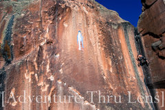Rock Climbing Photo: Patrick bearing the cross.  patrickbetts.zenfolio....