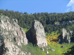 Rock Climbing Photo: Tombstone from the SW Ridge of Needle.