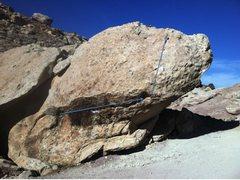 Rock Climbing Photo: All American Grinder beta.