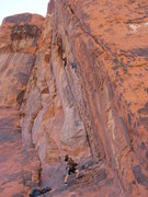 Rock Climbing Photo: Ocean in the midst of (perhaps) the second ascent ...