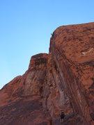Rock Climbing Photo: Ocean at the anchor. Long sport pitch!
