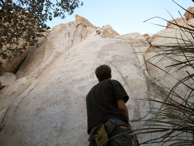 Rock Climbing Photo: upper crux on good house keeping