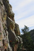 Rock Climbing Photo: Ben in orange, down low on Dead Letter (others are...