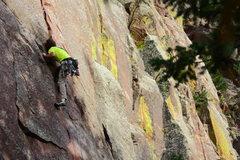 Rock Climbing Photo: Pascal on Chockstone.