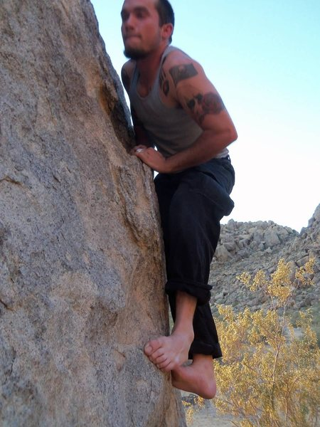 Rock Climbing Photo: Playing barefoot