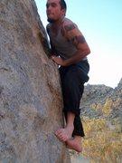 Rock Climbing Photo: Playing barefoot