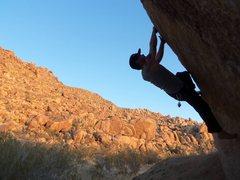 Rock Climbing Photo: Barefoot traversing