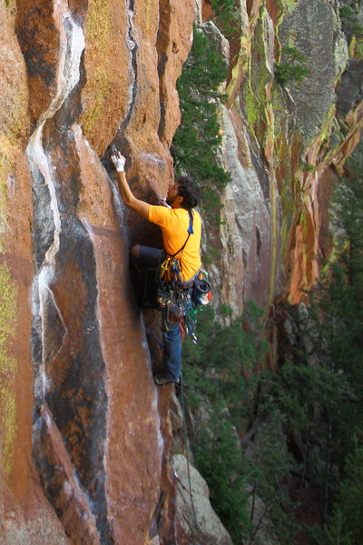 Rock Climbing Photo: On White Lightning - hands.