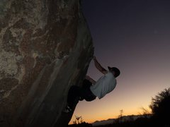 Rock Climbing Photo: This is the cruxy move. Hands always raw by the ti...