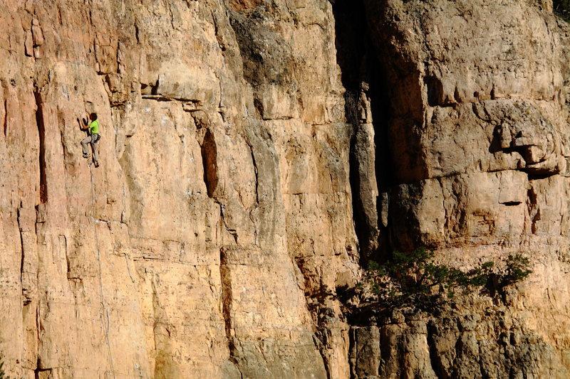 Rock Climbing Photo: Pascal on Partners (during sunset).