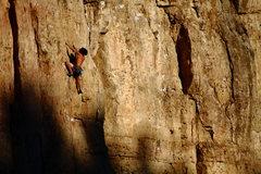 Rock Climbing Photo: Darkness chasing Falon.