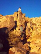 Rock Climbing Photo: Jorden following me up. Just past the low crux mov...