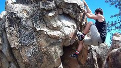 Rock Climbing Photo: Jorden goin up this fun little boulder.