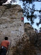 Rock Climbing Photo: Eric bustin out the sherbet pantalónes for this c...