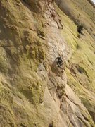 Rock Climbing Photo: Jesse Schultz just starting the slab section of th...