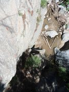 Rock Climbing Photo: Top view of the Crossover and Face climb on Heart ...