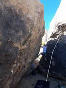 Rock Climbing Photo: This is me trying a different problem. Horizontal ...