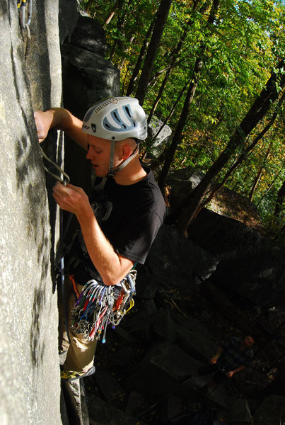 Rock Climbing Photo: Leading first pitch of Fruit Loops at Rumbling Bal...