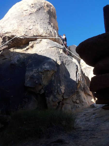 Rock Climbing Photo: Almost done with the traverse...ness