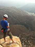 Rock Climbing Photo: El Capitan reservoir from the top of ECM