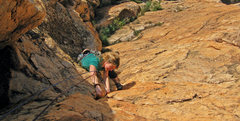 Rock Climbing Photo: Emma Alsford on the fourth and final pitch of Fire...