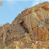 Topo for North Gully Wall on Adrar Iffran - Em's Cleft is number 4.