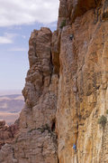 Rock Climbing Photo: Jessie Rushbrooke at the top of the second pitch o...