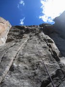 Rock Climbing Photo: Kat TRs through the crux of Beethoven's 5th (12d, ...