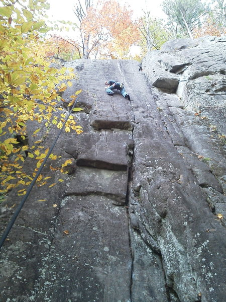 "Rock Climbing Photo: Tim Dufrane on ""Day of Madness"" To the r..."