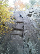 """Rock Climbing Photo: Tim Dufrane on """"Day of Madness"""" To the r..."""
