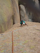 Rock Climbing Photo: Andy walking up the 3rd pitch