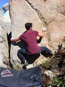 Rock Climbing Photo: Cam Martz at the start