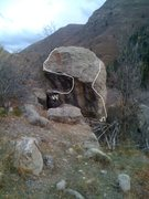 Rock Climbing Photo: Awesome boulder with classic v4 and v7. One of the...