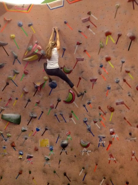 Climbing at Earth Treks in Rockville, MD