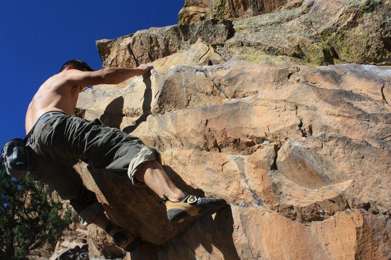 Rock Climbing Photo: no chalk