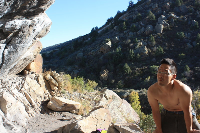 Rock Climbing Photo: Thinkin