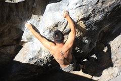 Rock Climbing Photo: working