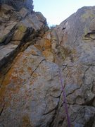 Rock Climbing Photo: Kat A. approaches the second crux of Saved By the ...
