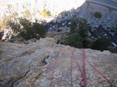 Rock Climbing Photo: Kat A. working her way through the 'Gates Of Eden'...